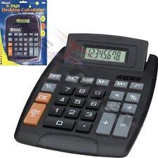Large Jumbo Calculator Big Button 8-Digit Desktop Math Display Solar Battery