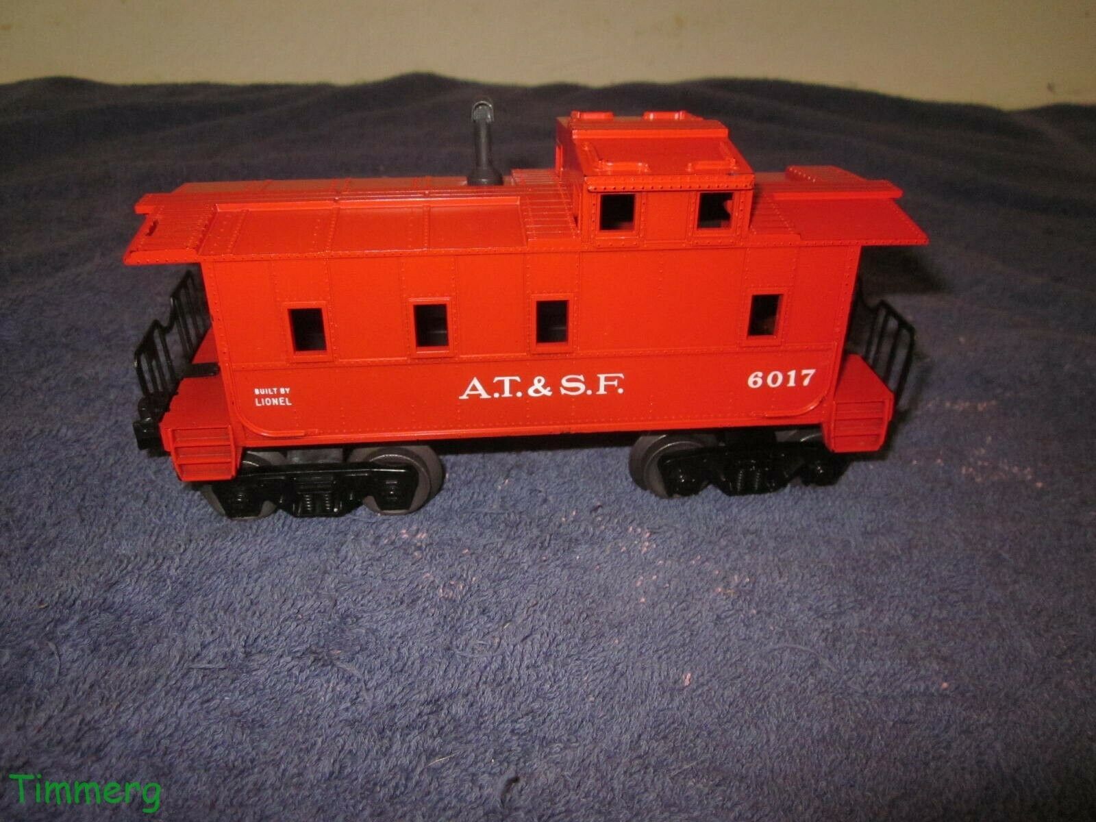 Lionel 6017-235 A.T. & S.F. Red SP Type Caboose 1962 Only Uncommon