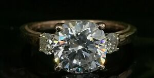 2-50Ct-Cushion-Cut-Diamond-Solitaire-Engagement-Ring-14k-Rose-Gold