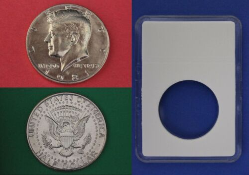 1981 P John Kennedy Half Dollar With DIY Slab from Mint Set Combined Shipping