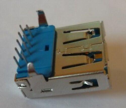 Steckverbinder Einbaukupplung Lötbuchse USB 3.0 Einbaubuchse TypA 90Grad Printm