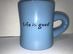 Life-is-Good-Blue-Coffee-Cup-Mug-039-Simple-Smile-039-Large-PERFECT