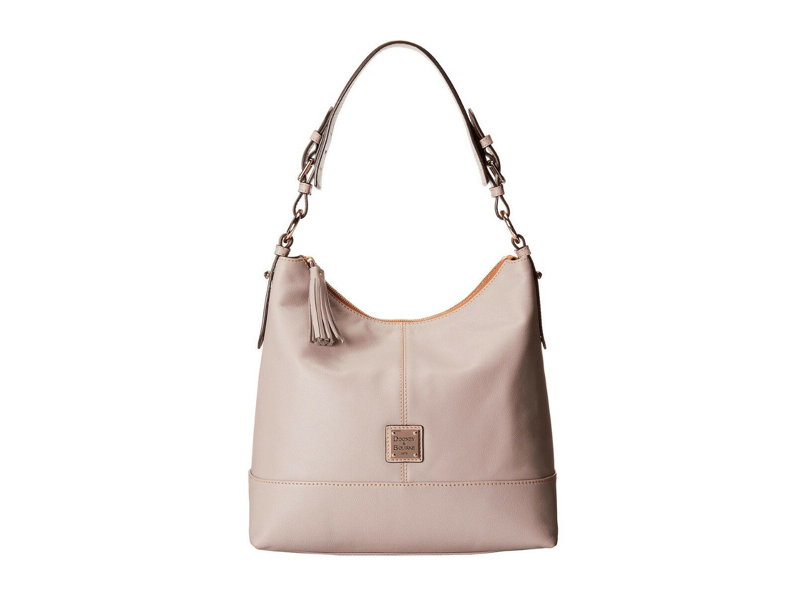 bafa6863a3 Dooney   Bourke Sophie Hobo 100 Cowhide Leather Shoulder Bag in Taupe for  sale online