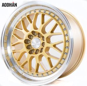 Aodhan-AH02-17x8-35-5x100-amp-5x114-3-73-1-Gold-Machined-Lip-Set-of-4