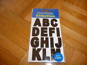 2 Bögen Etiketten Buchstaben Selbstklebend - Deutschland - 2 Bögen Etiketten Buchstaben Selbstklebend - Deutschland