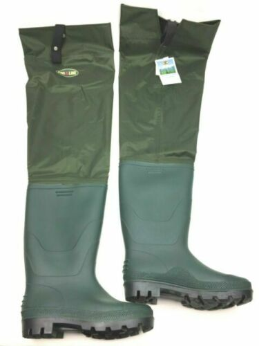 New Pro Line Hip Boot Cross Creek Green Waterproof Fish Waders Mens Size 9