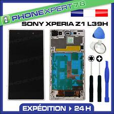 ÉCRAN LCD + VITRE TACTILE BLOC ASSEMBLÉ SANS LOGO SONY XPERIA Z1 L39h BLANC
