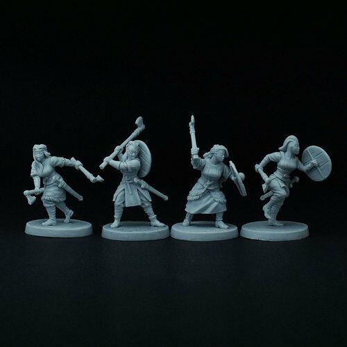 4 Viking Saga Brother Vinni ´S Studio BVO21 Axemaidens Set