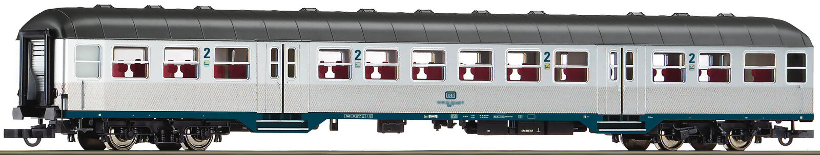 Roco 64661 h0 regional train car 2. class DB, dc