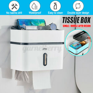 Bathroom Waterproof Wall Mount Paper Tissue Towel Roll Box Toilet Holder Drawer