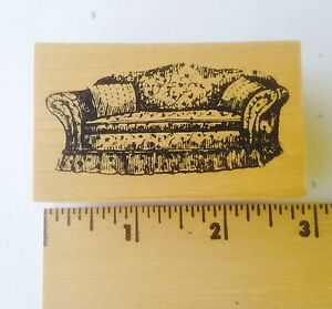 Image Is Loading Sofa Couch Rubber Stamp NEW