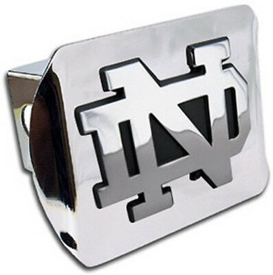 MVP Accessories NCAA Chrome Metal Hitch Cover with Chrome Metal Logo