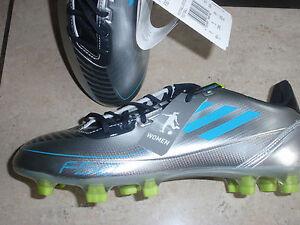 Adidas neue Fußballschuhe F30 TRX Women sielber blau gelb Größe 38
