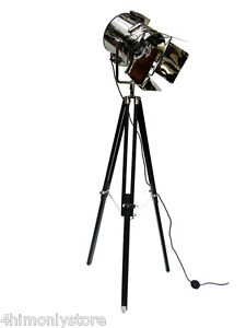 Image Is Loading Large Uk Tripod Studio Theater Spotlight Searchlight Floor