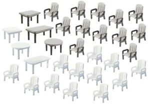 Faller-272441-N-24-Gartenstuehle-und-6-Tische