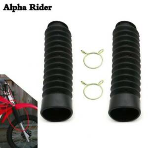 Upright Fork Cover Boots Sleeves Dust Rubber For ATC185S ATC200 ATC200M ATC200S