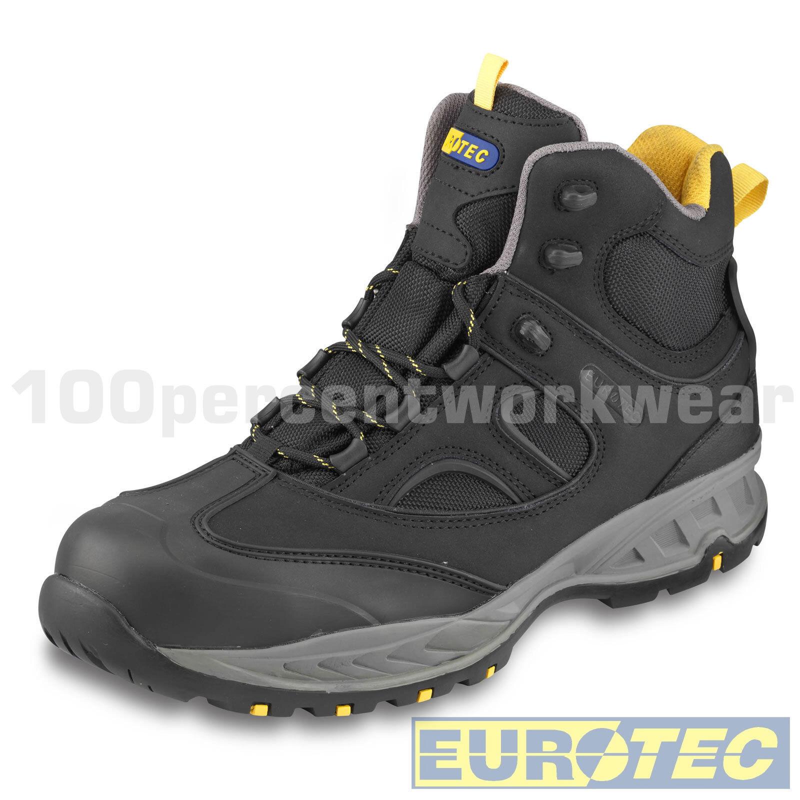 Eurotec 716NMP nera in pelle di di di nabuk Mesh Sicurezza Lavoro Stivali puntale composito S3 ccde5c