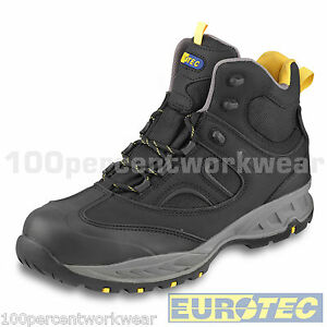 f602e35a791 Details about Eurotec 716NMP Black Nubuck Leather Mesh Safety Work Boots  Composite Toe Cap S3
