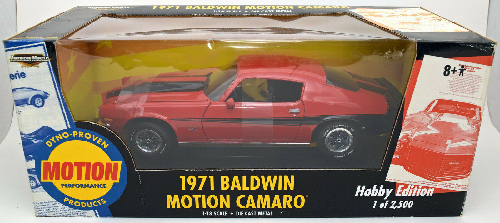 ERTL 1  18 1971 Chevy Camaro Baldwin Motion orange  röd American Muscle SS