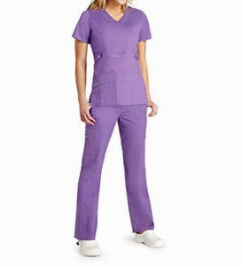 399c7c0462c Medical Scrub Set Pop Stretch Adar Lavender Pant 3100/V Neck Top ...