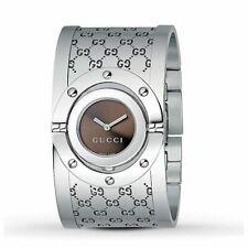 古馳 ya112401 女 Twirl 棕色石英手表
