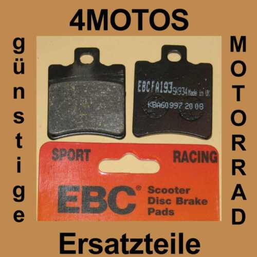 99 vo Bremsbeläge EBC Suzuki AY 50 WR LC Katana Rac Bj