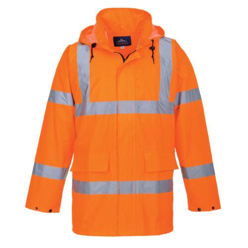 Portwest Hommes Hi-Vis Lite Traffic Jacket Orange//Jaune Divers Taille S160