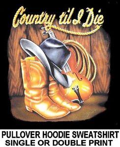 Til Country Rope I Violin Cowboy Die Sweatshirt Hoodie Boots Cowgirl Rodeo Hat agqgdzrw