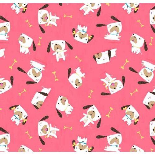 makower Flo/'s Friends Perros 100/% algodón de calidad Quilting Patchwork Tela