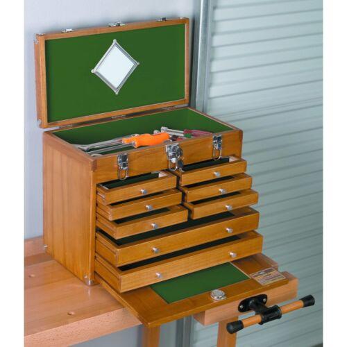 8 Drawer Hardwood Tool Chest Cabinet Felt Lined Box Walnut Stain Jewelry Box?