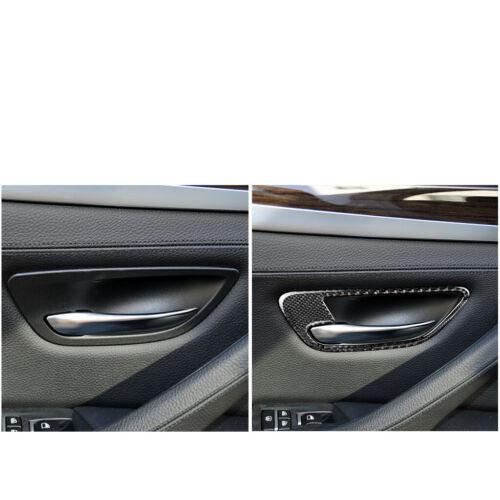 Carbon Fiber Door Handle Frame Cover Trim for BMW 5 Series F10 F11 F07 F18 5MW1
