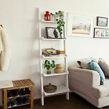 SoBuy® Scaffale a scala moderno con cinque ripiani. bianco, FRG17-W,IT