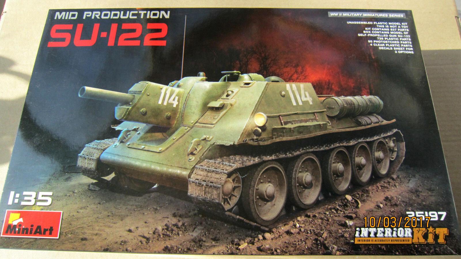 SU-122 (mid production) w Full Interior    1 35 MiniArt