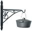 thumbnail 3 - Minuteman International Crane, 18-inch Fireplace Pot Hanger Bracket, Black