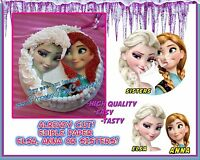 Edible Head Cake Image Frozen Picture Sugar Paper Face Topper Round Face Elsa
