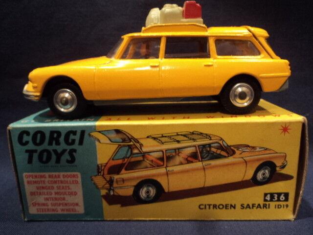 Corgi 1960's Citroen Safari ID19 Bevarande av vilda djur nr 436 MINT Ex Shop Stock