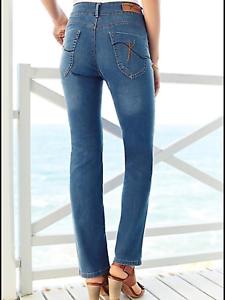 3b33d84f7c0 Details about Kaleidoscope Plus Size 22 Stonewash Blue Denim High Waist  Slim Leg JEANS £42 31