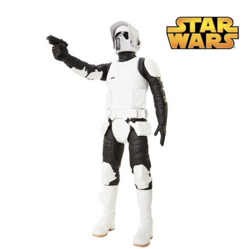 "UK NEW Star Wars Scout Trooper 18/"" Big Action Figure /& Hand Gun High Detail"