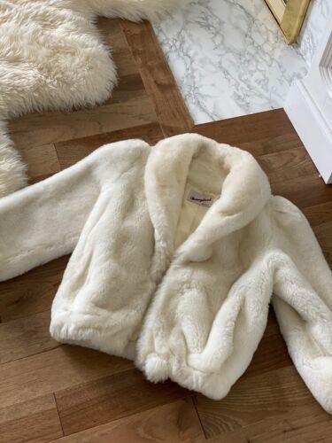 Vintage Faux Fur Coat Donnybrook Fur Coat White 9… - image 1