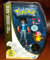 Pokemon 20th Anniversary Ash & Pikachu Figure Set Sdcc 2016 Comic Con Exclusive