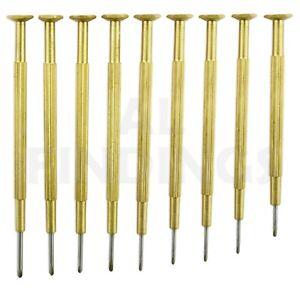 Herramientas-de-calidad-conjunto-9-Destornilladores-Relojeros-Laton-Reloj-Herramienta-2-2mm-0-8mm
