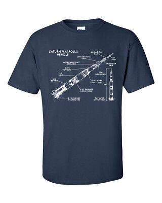 Non seulement Nerds Saturn V Rocket stades alunissage d/'Apollo Mission 5 T-Shirt