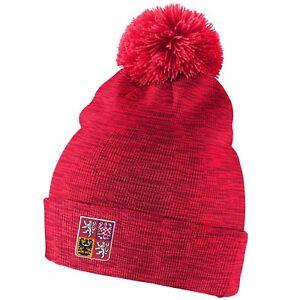 755f6e639f1 Team Czech Republic 2018 Winter Olympics Hockey Pom Beanie Toque Hat ...