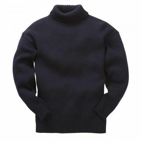 Nauticalia Submariner Unisex Fishermans Jumper Knitted Merino Sailors Sweater