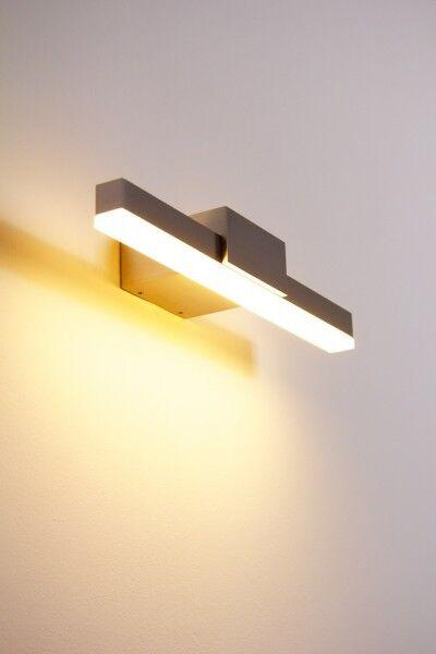 LED Applique illuminazione quadro 1x8,4 watt metallo alluminio spazzolato 82761