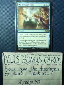 MTG Magic the Gathering Dig Through Time Rare Ultimate Masters M//NM