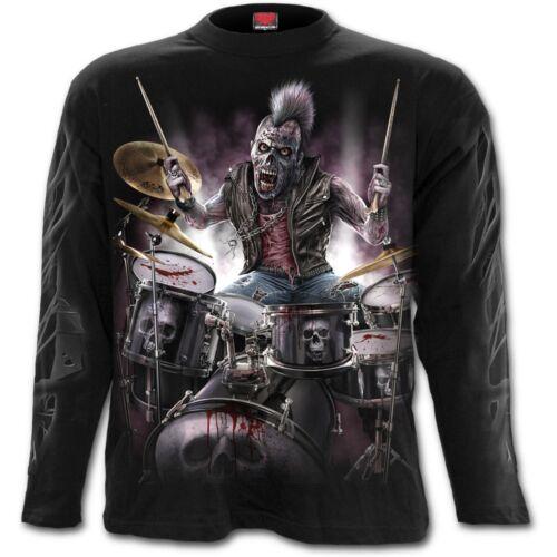 SPIRAL DIRECT ZOMBIE BACKBEAT Long Sleeve T-Shirt//Drums//Music//Rock//Biker//Tattoo