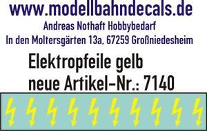 10 Scala 1 Giallo Elektropfeile 6,8 X 3,8 MM - Decals Top 032-7140