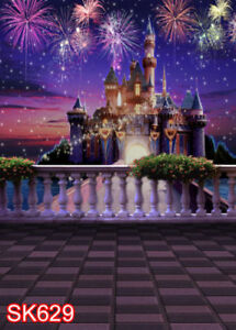 Themed Castle Background Cartoon Dream Castle Desert Photo Backgrounds for Childrens Birthday Party Backdrop Photography 7X5FT Party Supplies MSDZY390