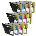 12 Compatible Brother Lc-985 LC985 Ink Cartridges. 3x Black 3x Cyan 3x and